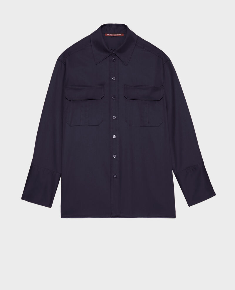 Oversize cotton men's shirt Night sky Mauryl