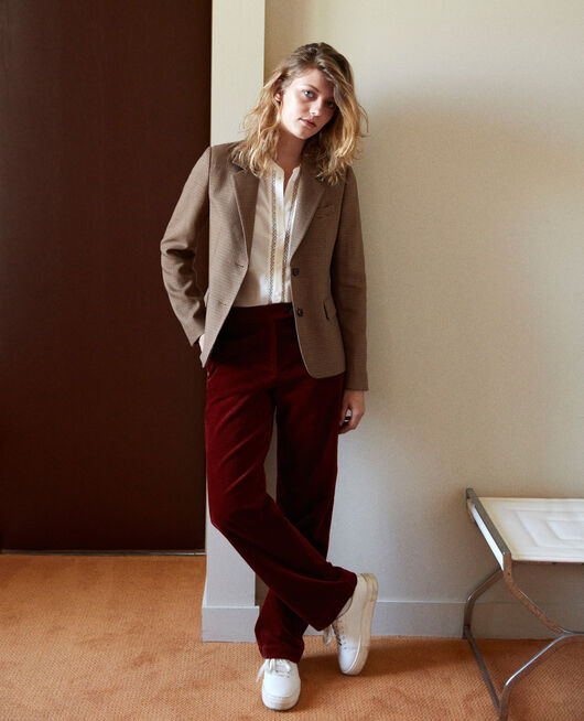 Suit-style jacket HOUNDTOOTH