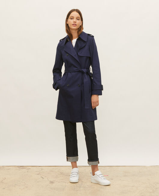 Iconic cotton trench MARITIME BLUE
