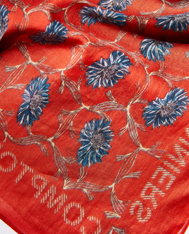 Printed cotton bandana Pureed pumpkin Nournesol