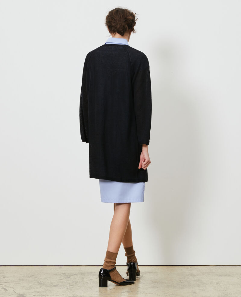 Long linen cardigan Black beauty Lalima