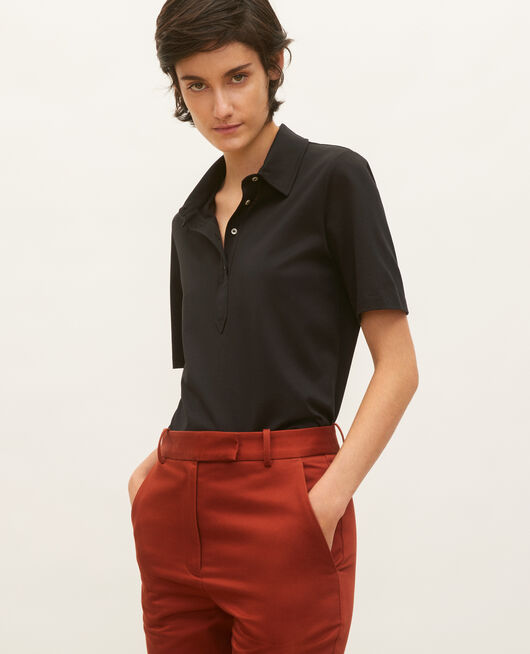 Egyptian cotton polo shirt BLACK BEAUTY