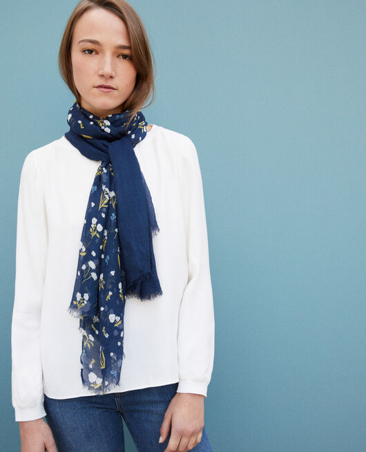 Printed scarf Blue