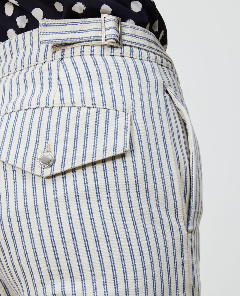 REGULAR - Striped denim pants Indigo stripe Naruk