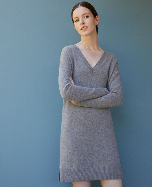 Cashmere dress Grey