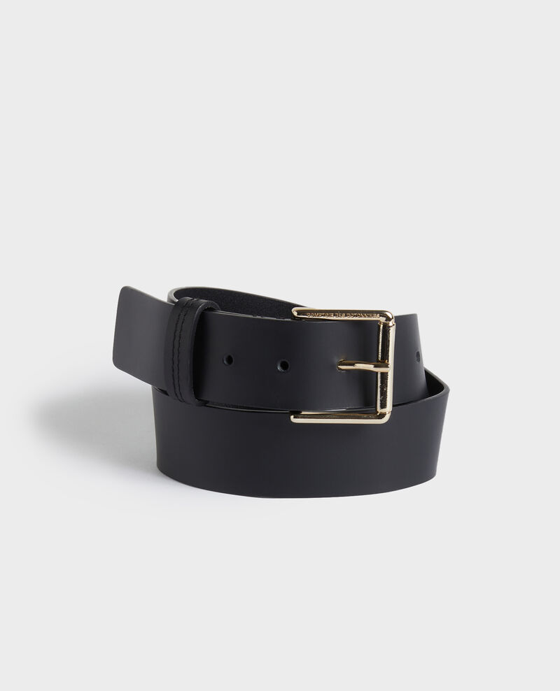 Wide leather belt Black beauty Narcis