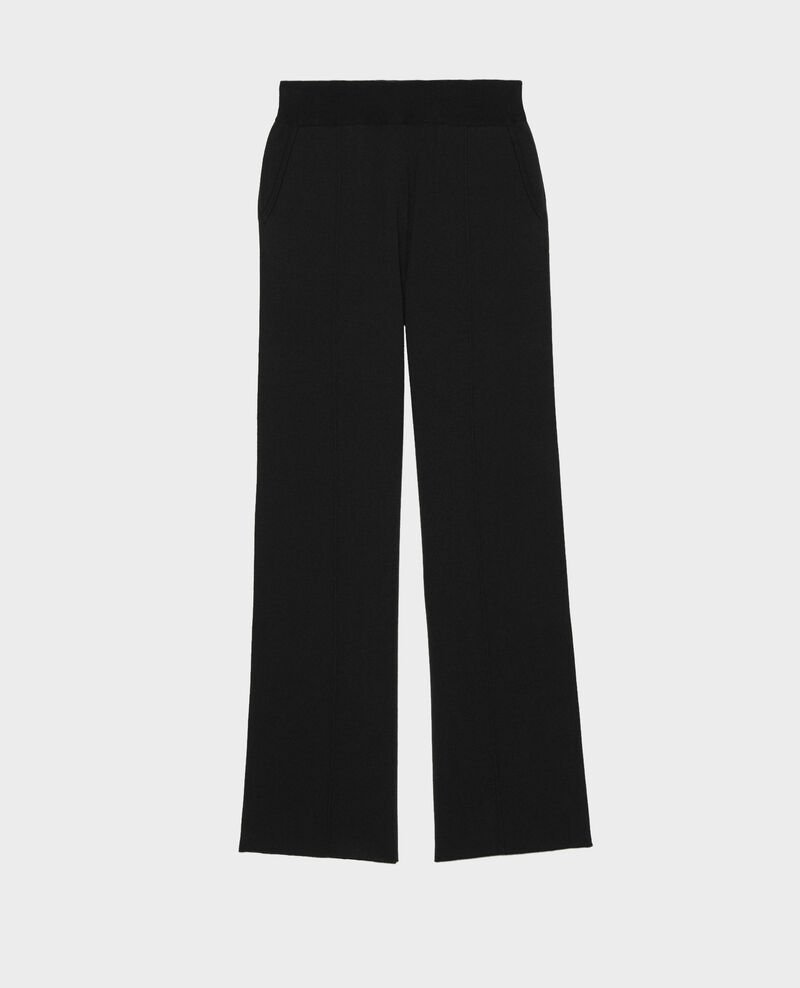 Wide wool jersey trousers Black beauty Marseillan 2
