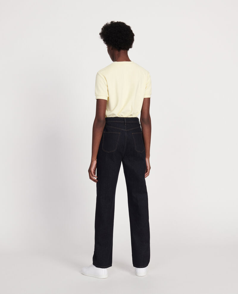 Straight-cut high-waisted jeans Denim rinse Leoda