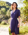 Plunge dress Navy 9illarou