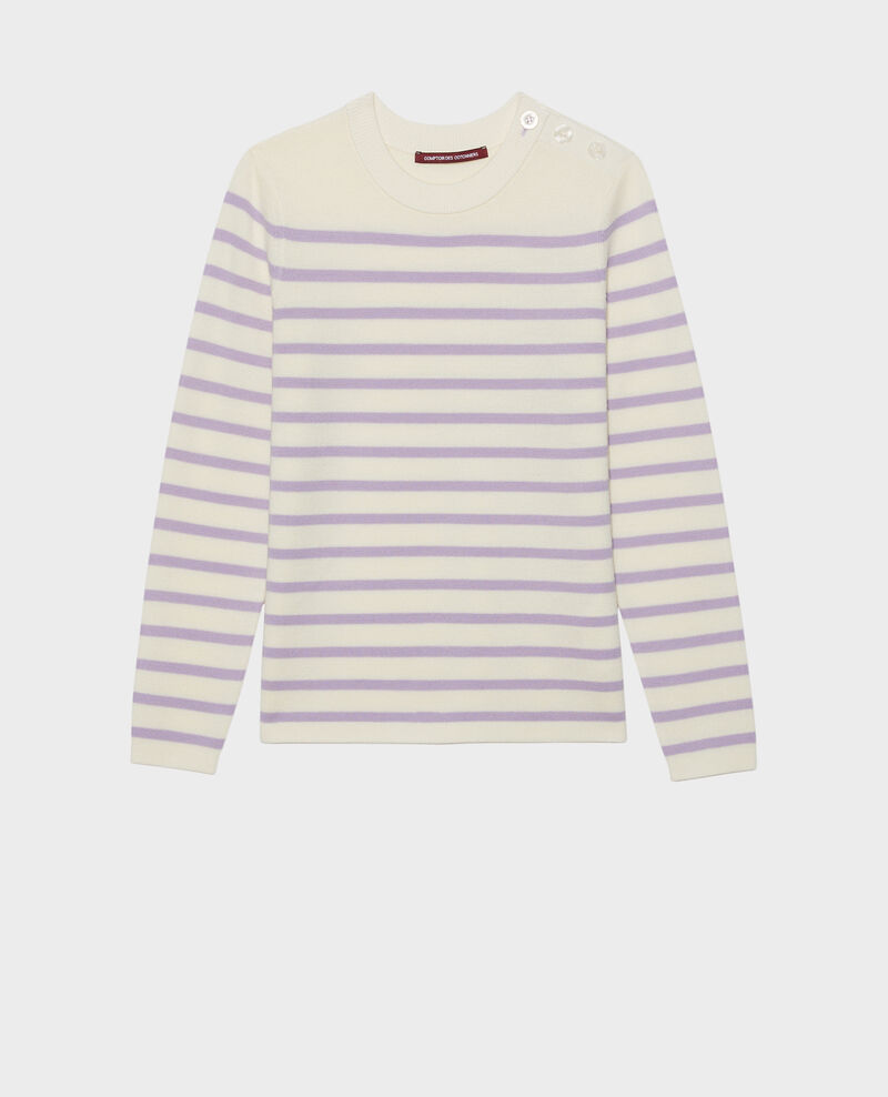MADDY - Striped wool jumper Str_jetstr_lil Liselle