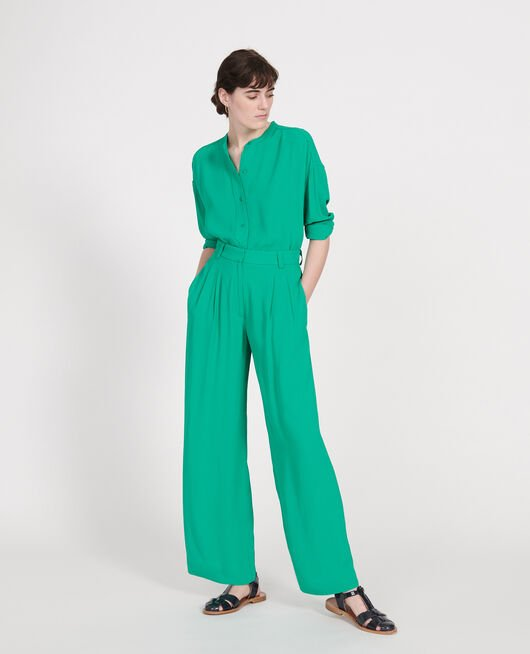 Loose trousers GOLF GREEN