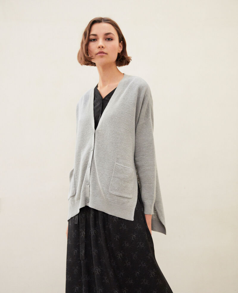 Oversize cardigan Light grey Ilubi