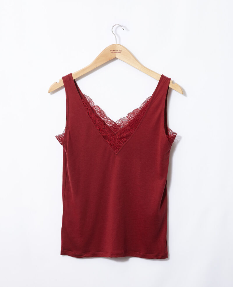 Vest top with lace Rio red Gaia