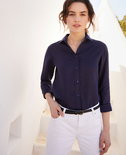 Linen shirt INK NAVY