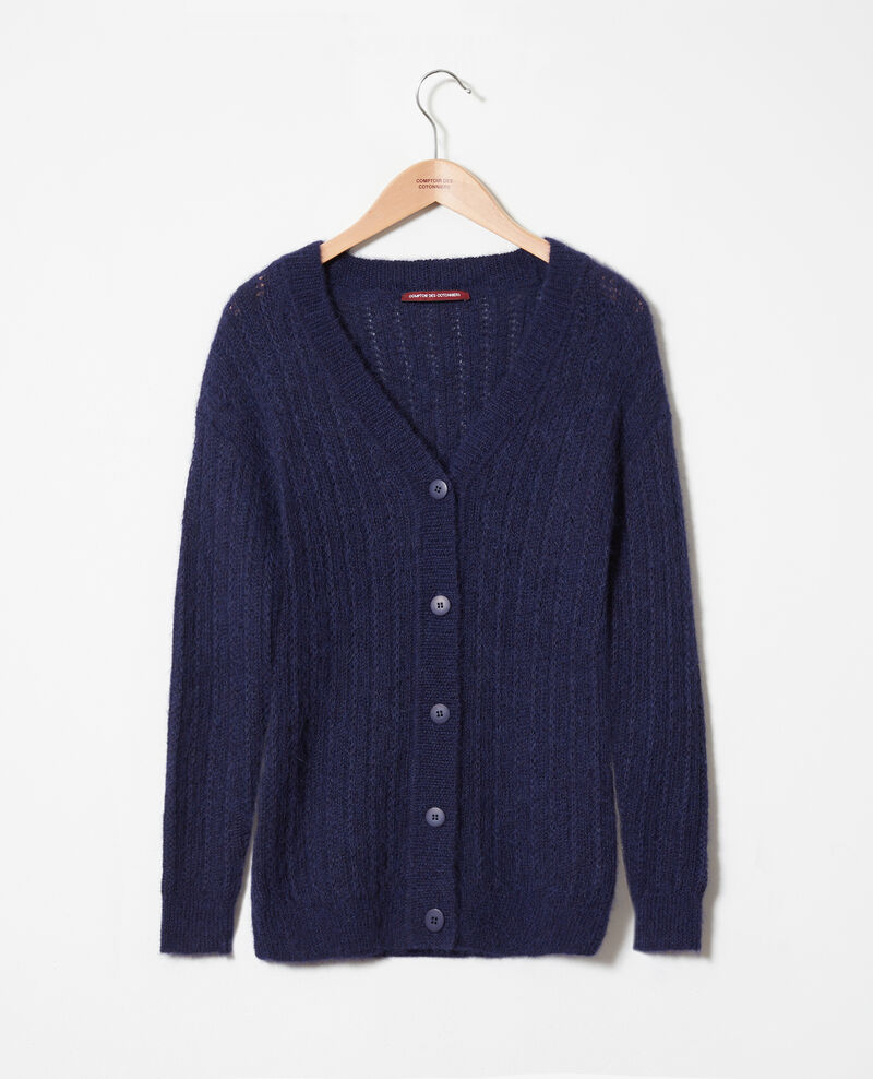 Novelty knit cardigan Evening blue Jaro
