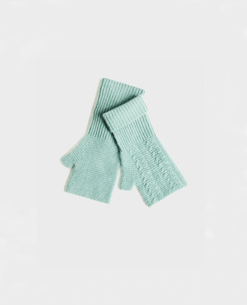 Cashmere mittens Chinois green Mirabel