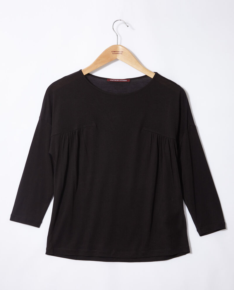 Round neck t-shirt Black Graziela