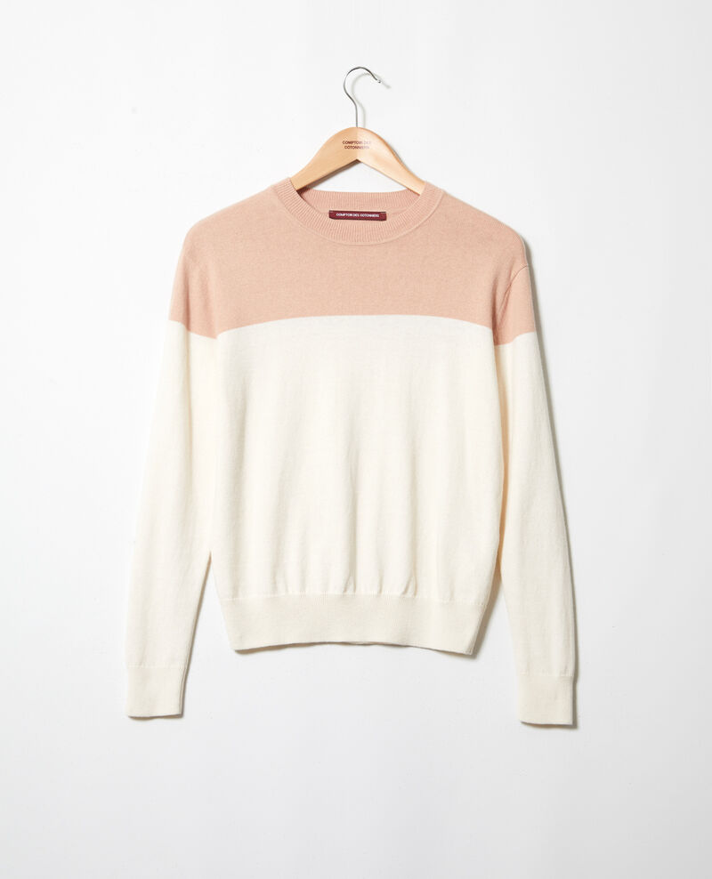 Two-tone jumper Pink beige Ilene