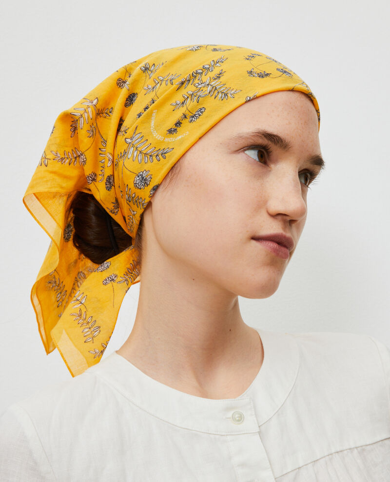 Printed cotton bandana Gold fusion Noronille