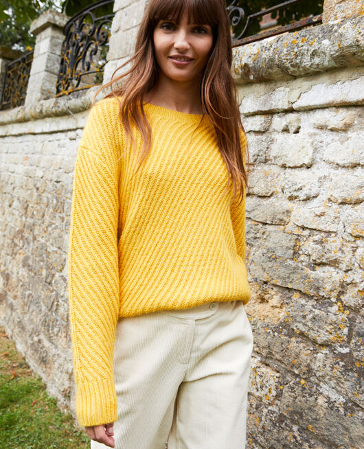 Rib knit jumper SPICY MUSTARD