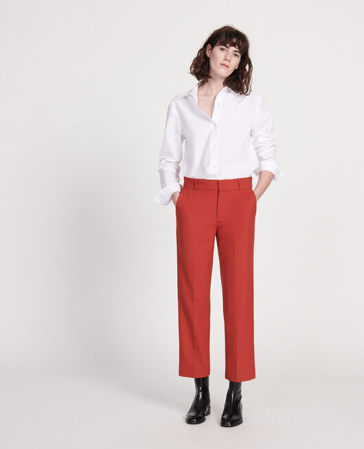 Smooth wool boyfriend trousers KETCHUP
