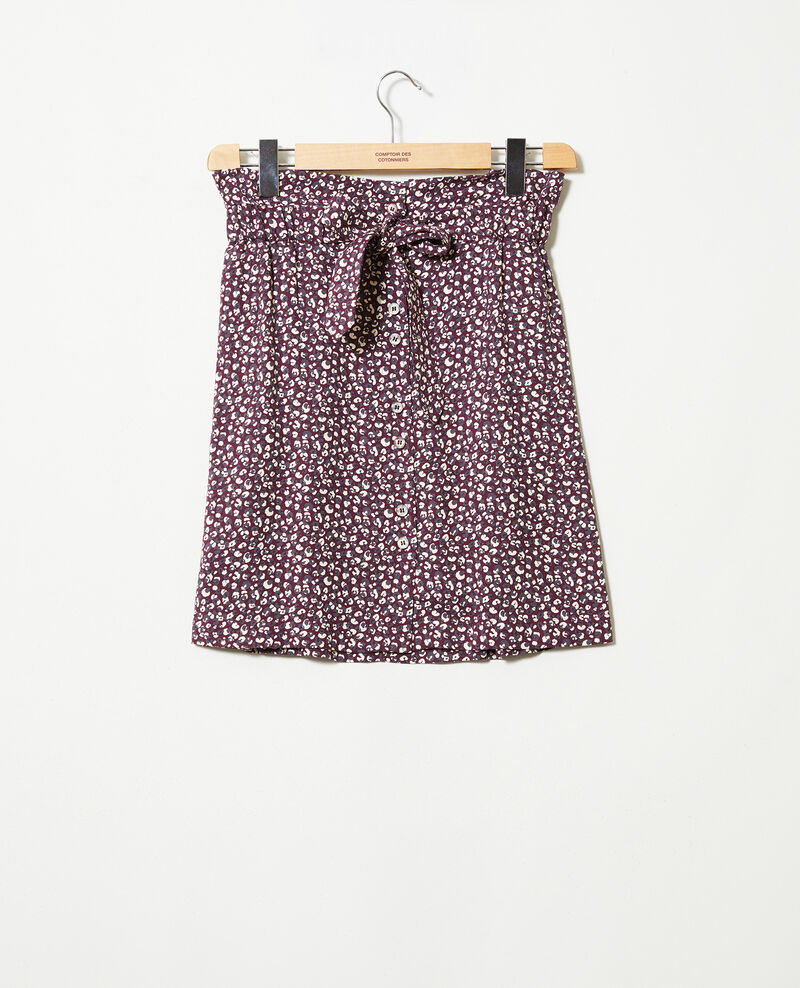 Printed skirt Leopard potent purple Jorage