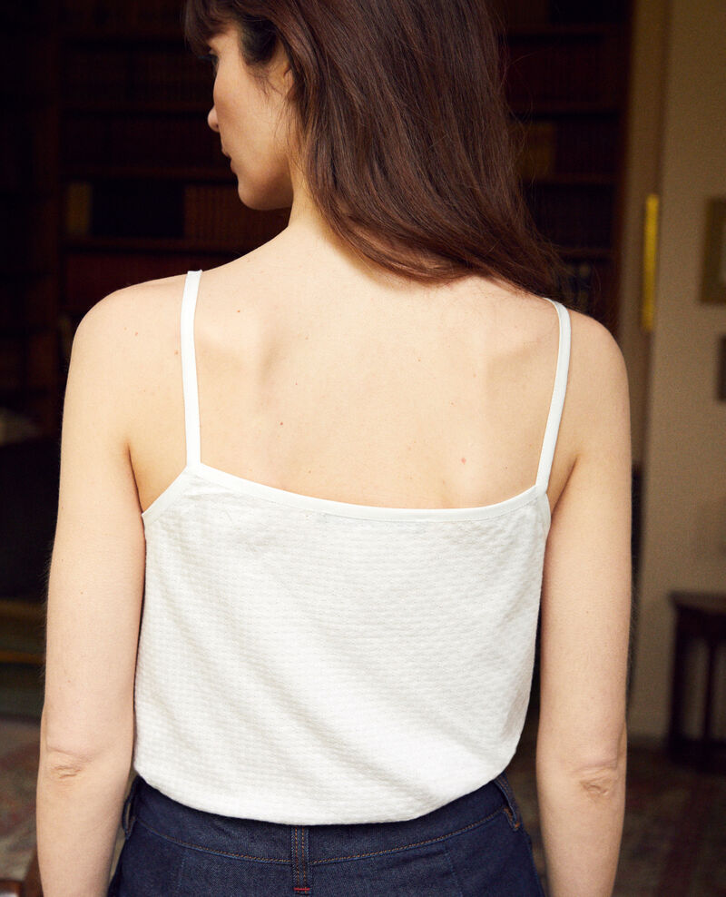 Vest top with spaghetti straps White Gagnant