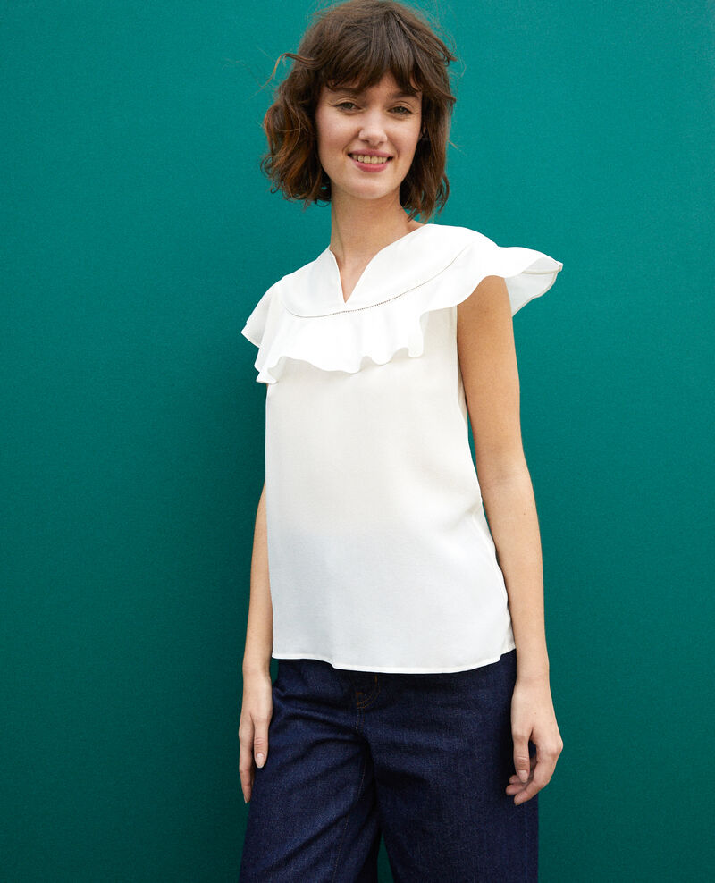 Frilly blouse White Gauche