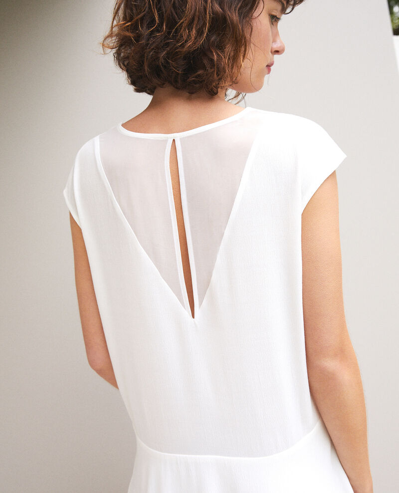 V-neck dress White Fondant