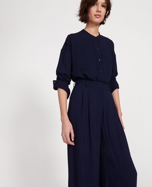 Straight-cut blouse MARITIME BLUE