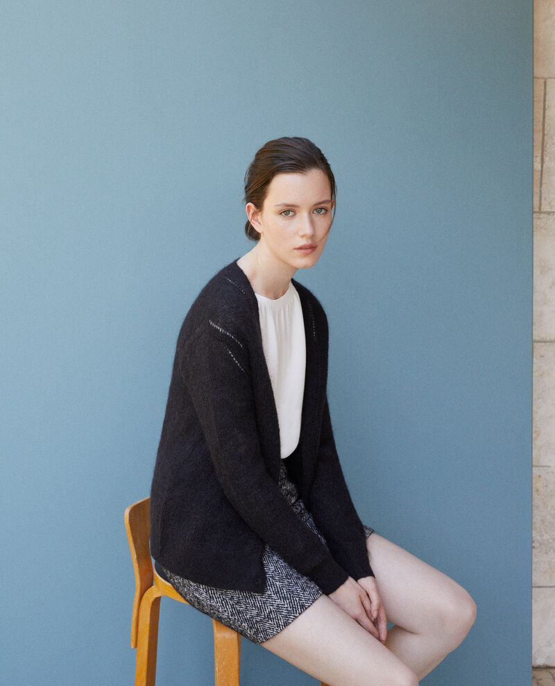 Cardigan with mohair Black 9frisquette