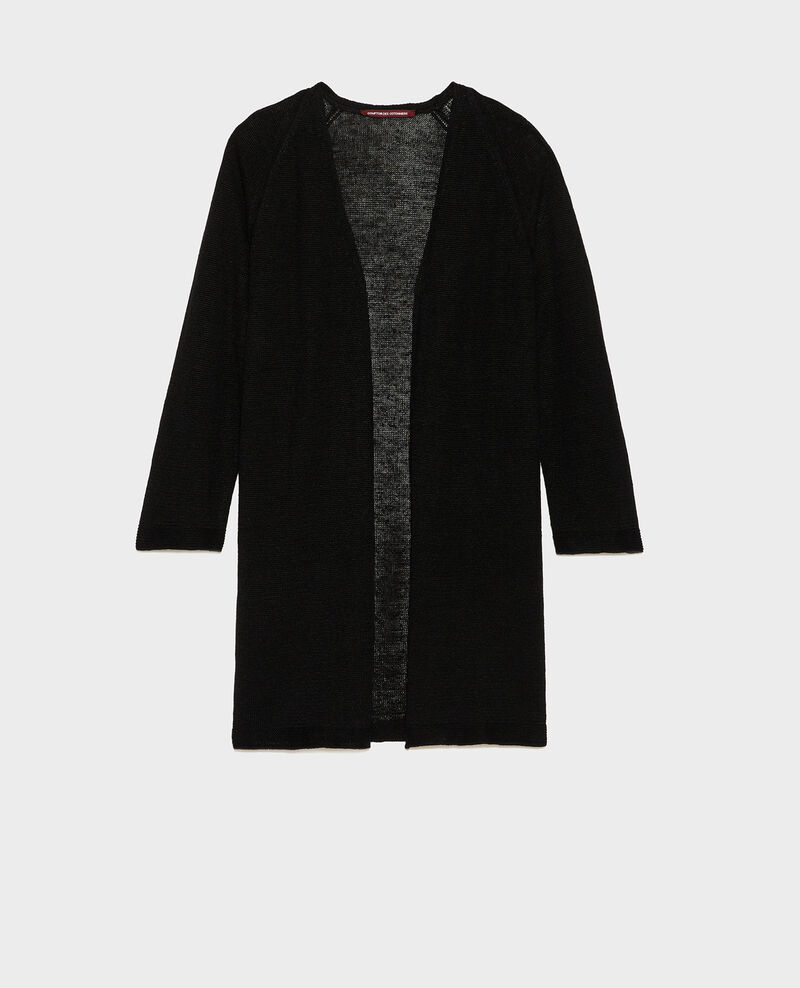 Linen cardigan Black beauty Lalima