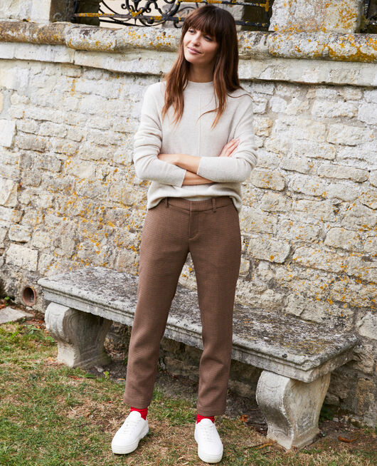 Straight-leg trousers HOUNDTOOTH