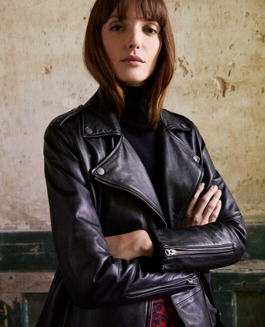 Smooth leather jacket NOIR