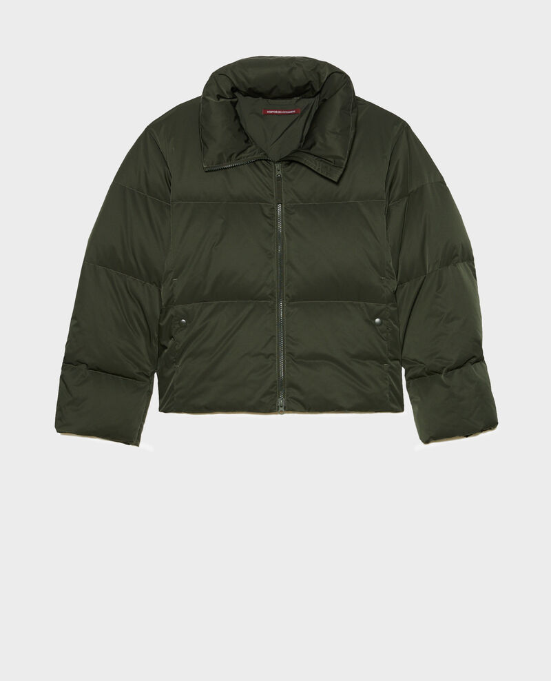 Short fitted parka Military green Maure
