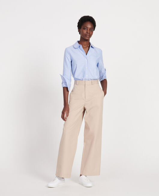Cotton boyfriend trousers OXFORD TAN