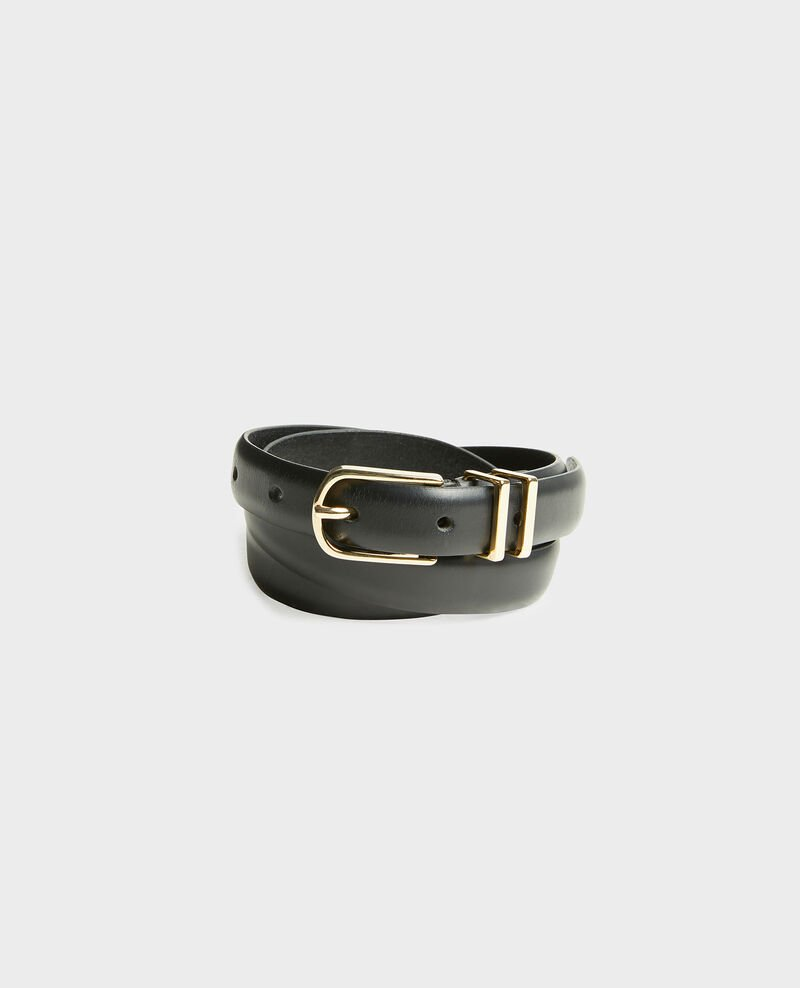 Leather belt Black beauty Mendite