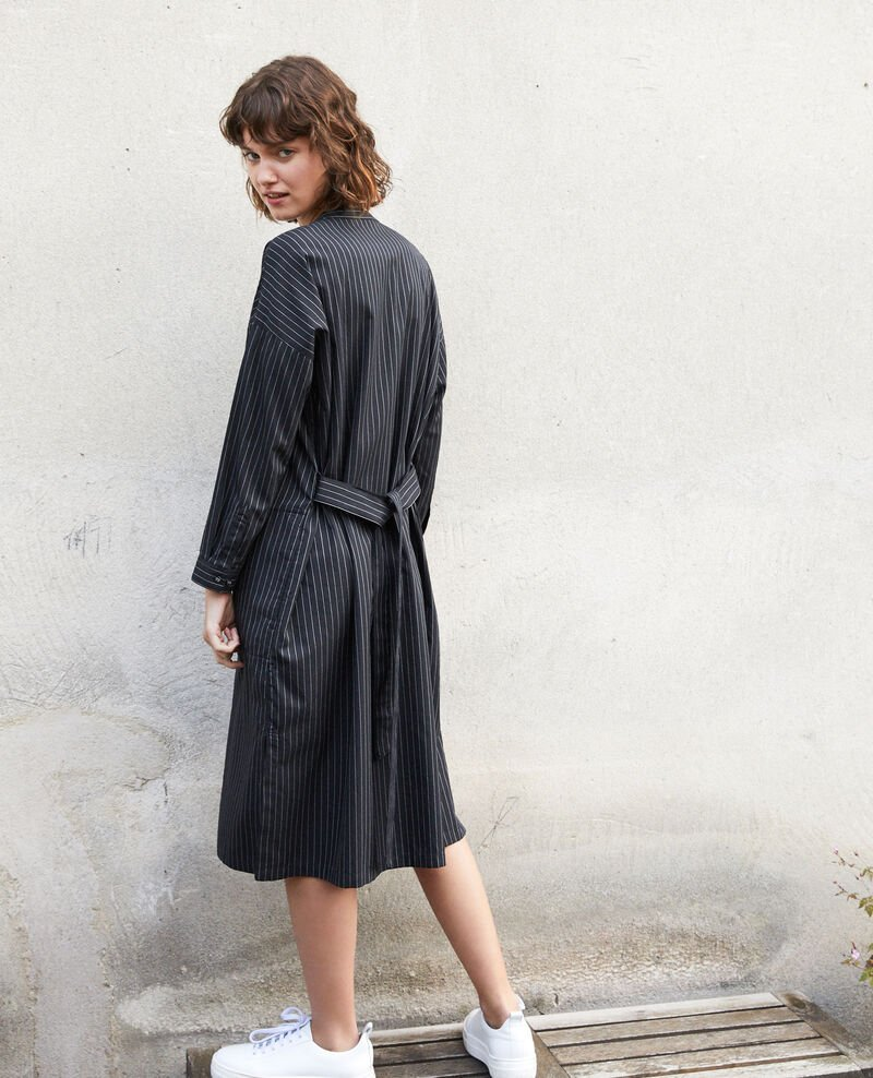 Mandarin collar dress Black Gerronce