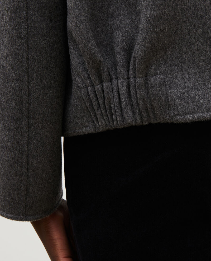 Double-sided wool jacket Medium grey melange Mauguio