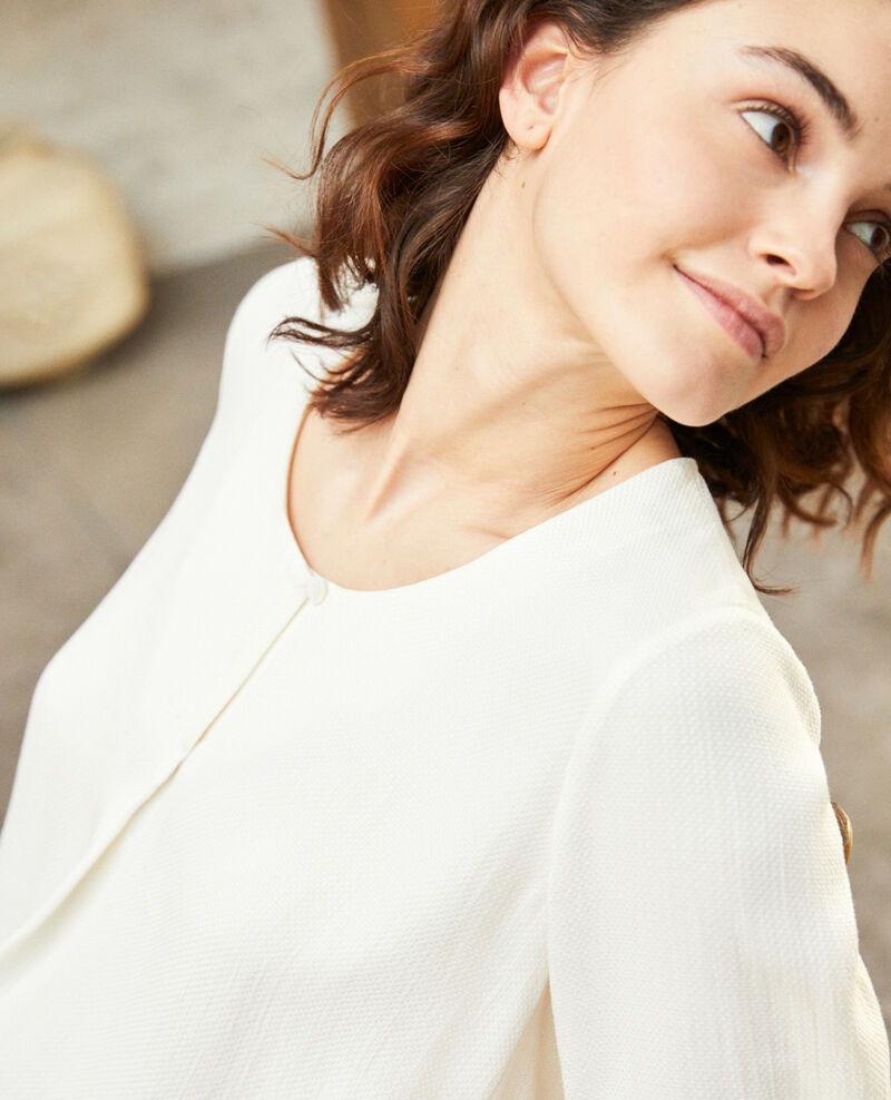 Blouse with removable tie Off white Ipex