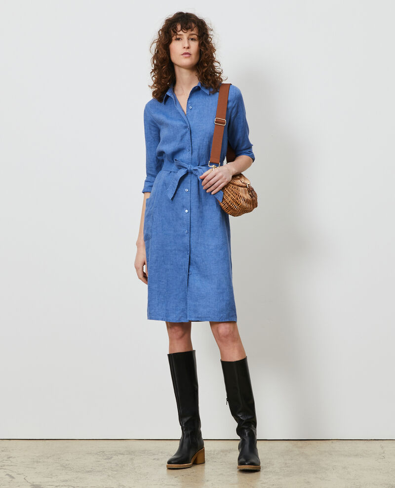 Linen shirt dress Indigo Lesprit