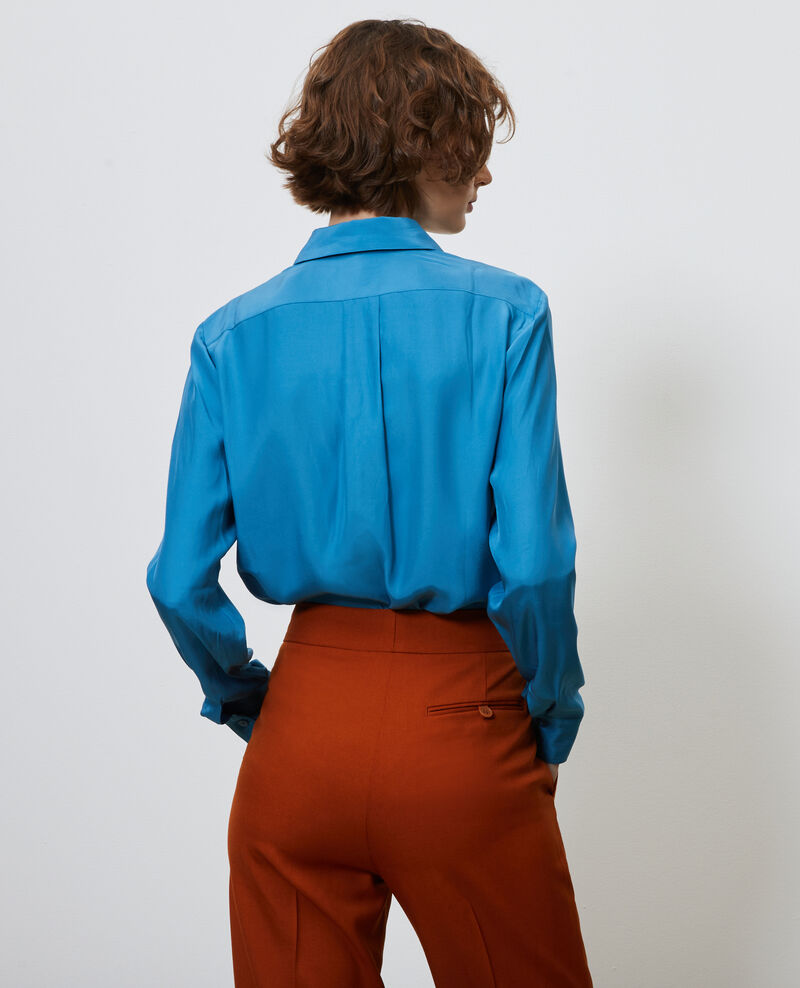 SIBYLLE - Silk boyfriend shirt Faience Noriges