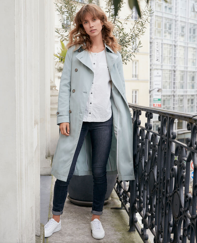 Iconic fit Trench coat Silvergreen Fadja
