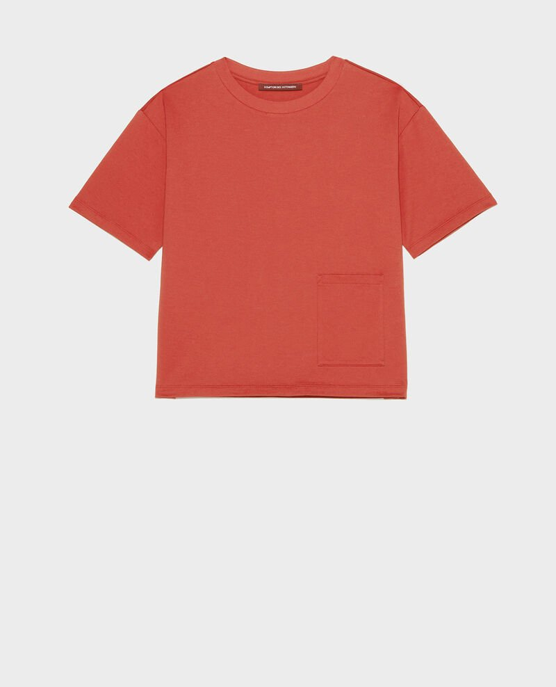 Mercerised cotton Oversize t-shirt Ketchup Lexana
