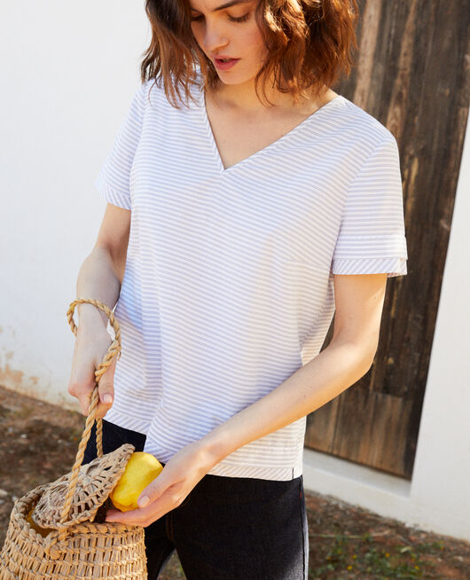 Striped blouse BLANC/INDIGO