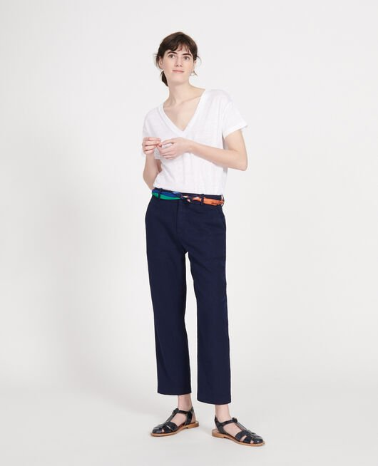 Linen trousers MARITIME BLUE
