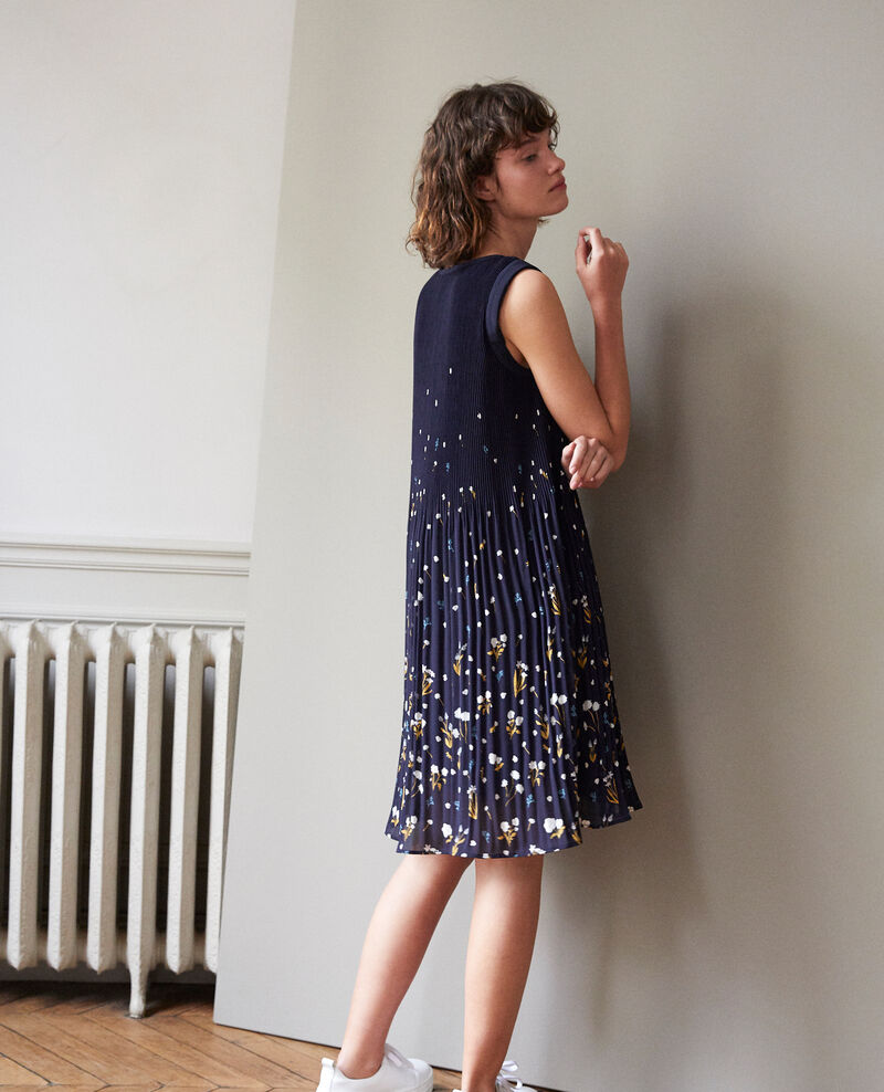 Pleated dress Blue Garance
