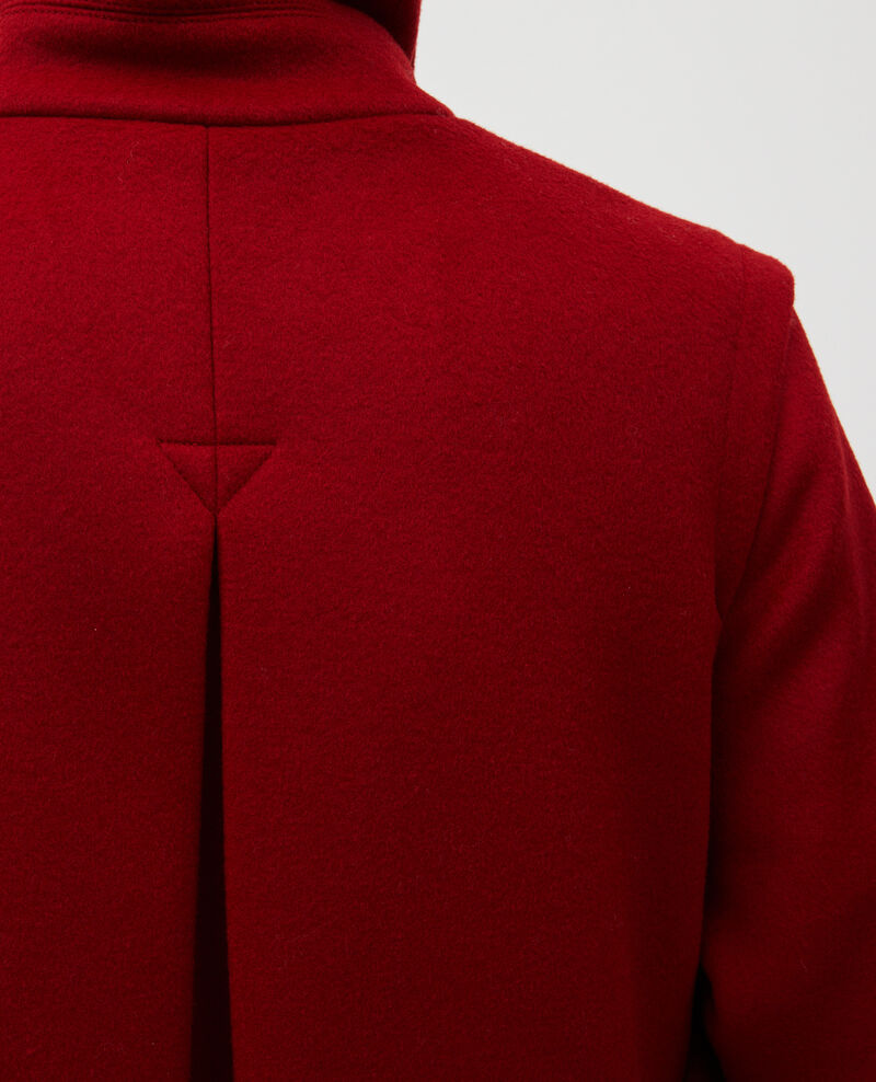 Loose wool and cashmere coat Royale red Madriat