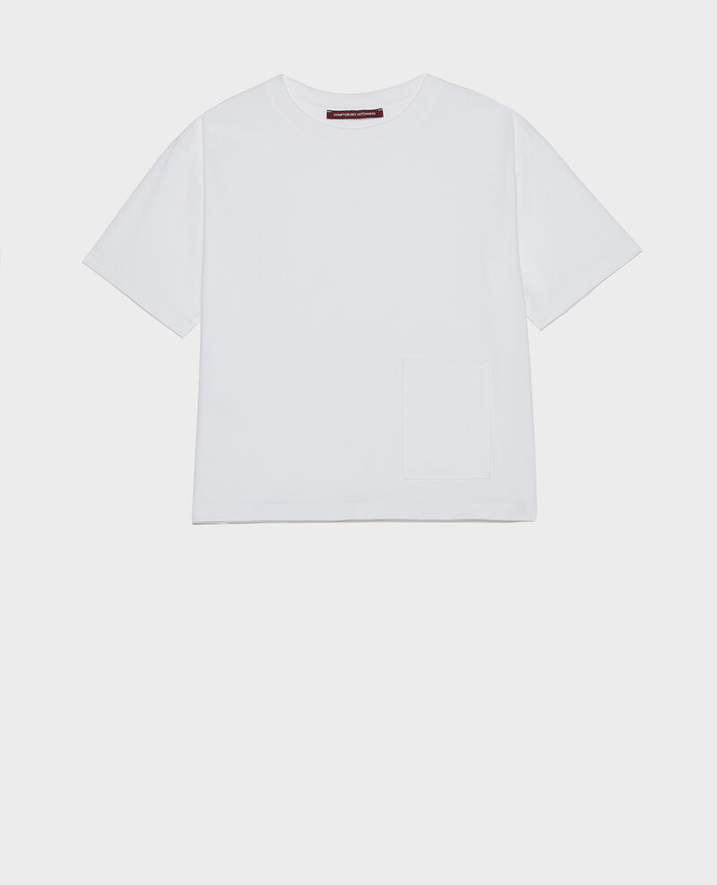 Mercerised cotton Oversize t-shirt Optical white Lexana