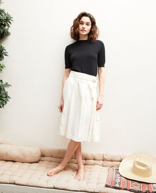 Midi skirt OFF WHITE
